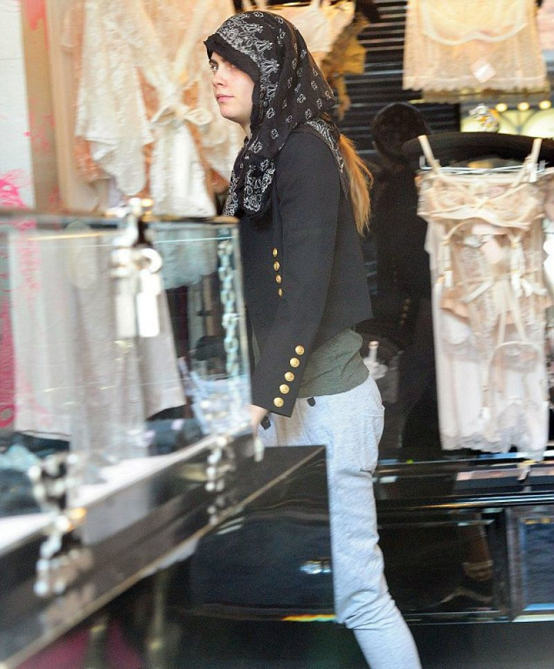 CARA DELEVINGNE Out Shopping in London 06/24/2015
