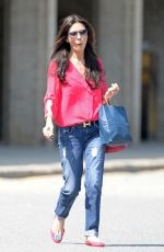 CATHERINE ZETA JONES in Jeans Ou and About in New York 06/12/2015