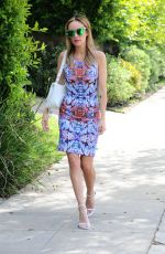 CATT SADLER Leaves Larchmont Blvd in Los Angeles 06/15/2015
