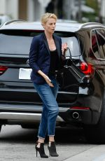 CHARLIZE THERON Arrives at Bouchon in Beverly Hills 06/04/2015