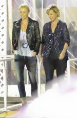 CHARLIZE THERON at U2 Concert in Inglewood