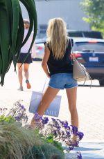CHARLOTTE MCKINNEY in Denim Shorts Out in Malibu 06/21/2015