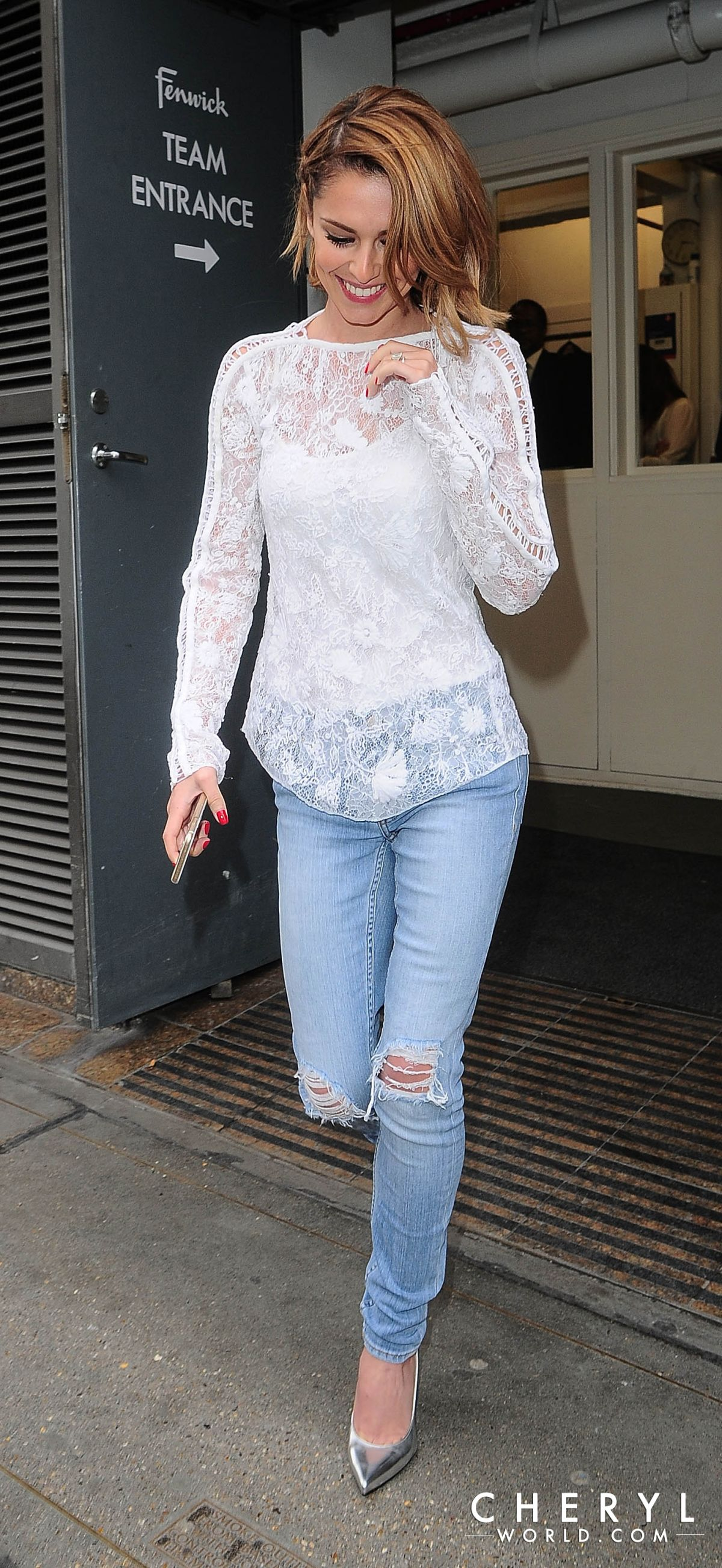 CHERYL COLE Leaves Fenwick Store 05/31/2015