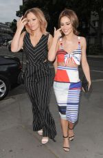 CHERYL COLE Out for Dinner in London 06/26/2015