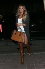 CHRISSY TEIGEN Arrives at Madeos Restaurant in Los Angeles