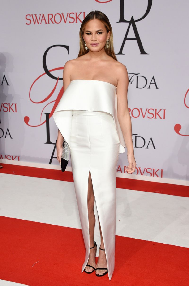CHRISSY TEIGEN at CFDA Fashion Awards 2015 in New York