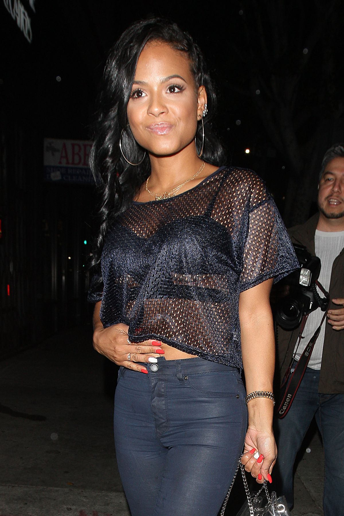 CHRISTINA MILIAN Arrives at Warwick Nightclub in Hollywood 06/11/2015