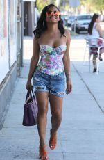 CHRISTINA MILIAN in Tank Top and Denim Shorts Out in West Hollywood 06/20/2015