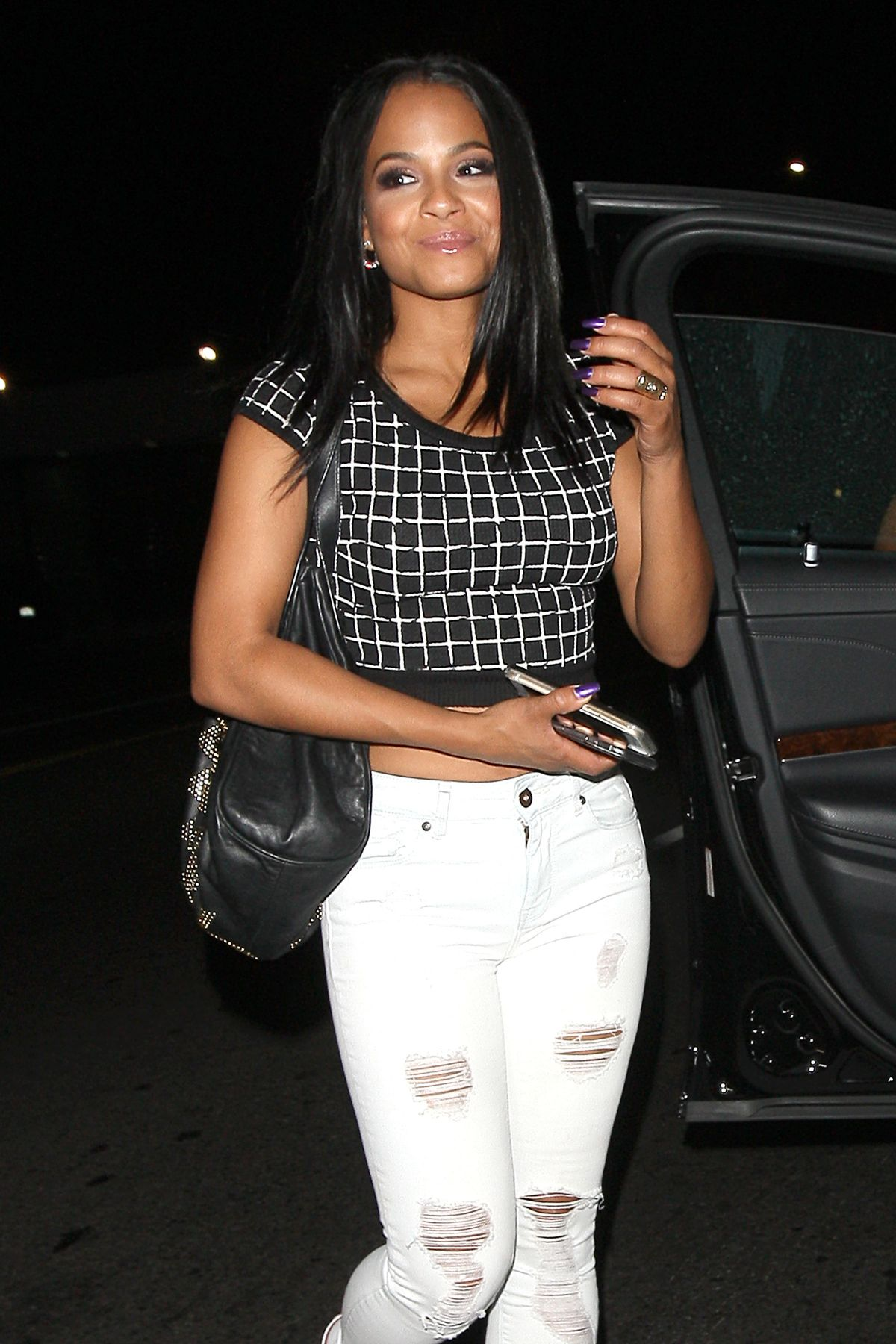 CHRISTINA MILIAN Leaving Warwick Nightclub in Hollywood 06/24/2015