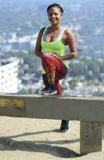 CHRISTINA MILIAN on the Set of Christina Milian Turned Up in Los Angeles 06/11/2015