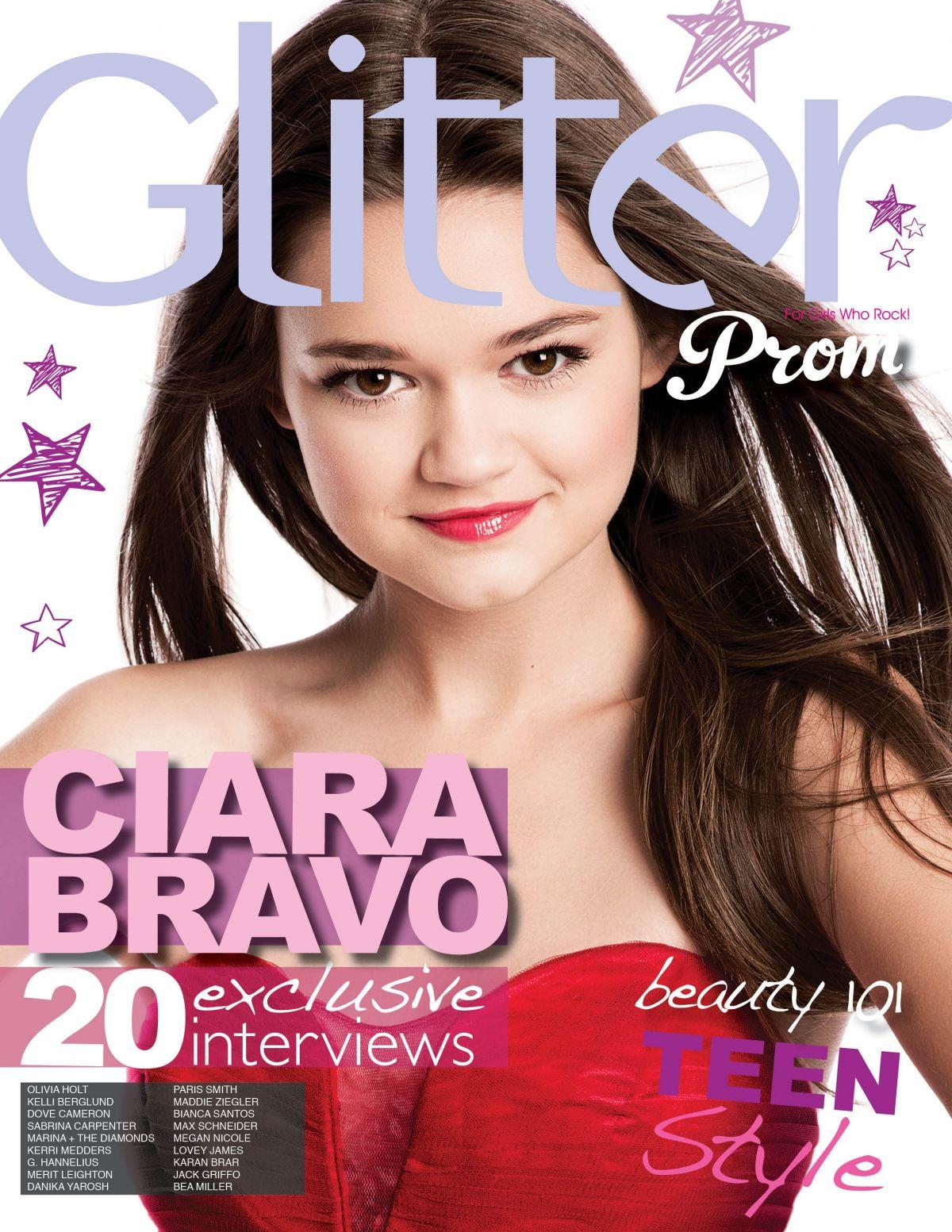 CIARA BRAVO in Glitter Magazine