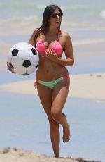 CLAUDIA ROMANI in Bikini at a Beach in Miami 06/02/2015