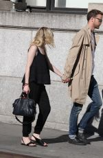 DAKOTA FANNING and Jamie Strachan Out and Aboutin New York 06/06/2015