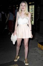 DAKOTA FANNING night Out in New York 06/09/2015