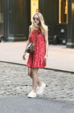 DAKOTA FANNING Out and About in Soho 06/20/2015