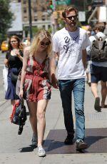 DAKOTA FANNING Out Shopping in Soho in New York 06/13/2015