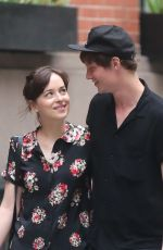 DAKOTA JOHNSON and Matthew Hitt Out and About in New York 06/20/2015