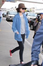 DAKOTA JOHNSON at LAX Airport in Los Angeles 06/05/2015