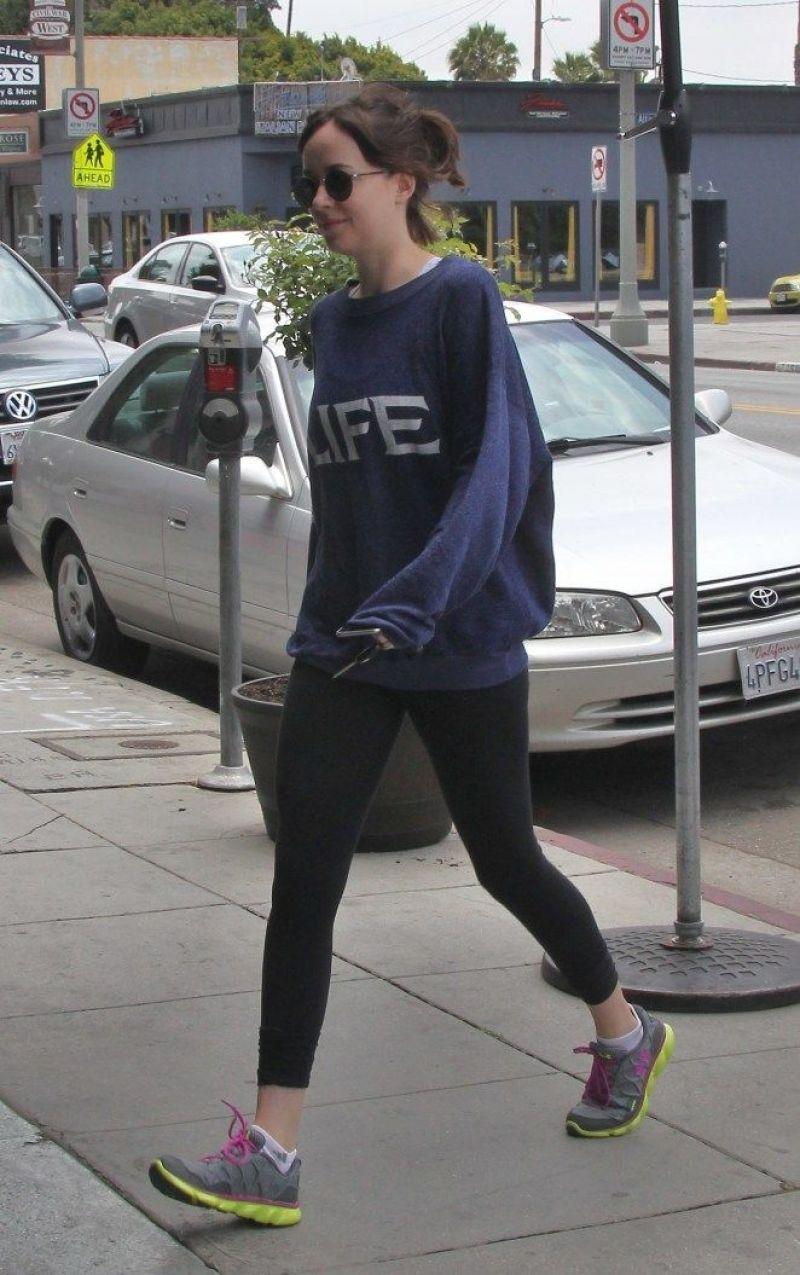 DAKOTA JOHNSON Heading to a Gym in Los Angeles 06/06/2015