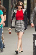 DAKOTA JOHNSON on the Set of How to be Single in New York 06/17/2015