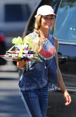 DENISE RICHARDS Arrives at a Party in Belair 06/14/2015