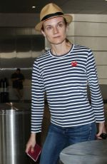 DIANE KRUGER Arrives at LAX Airport in Los Angeles 06/13/2015