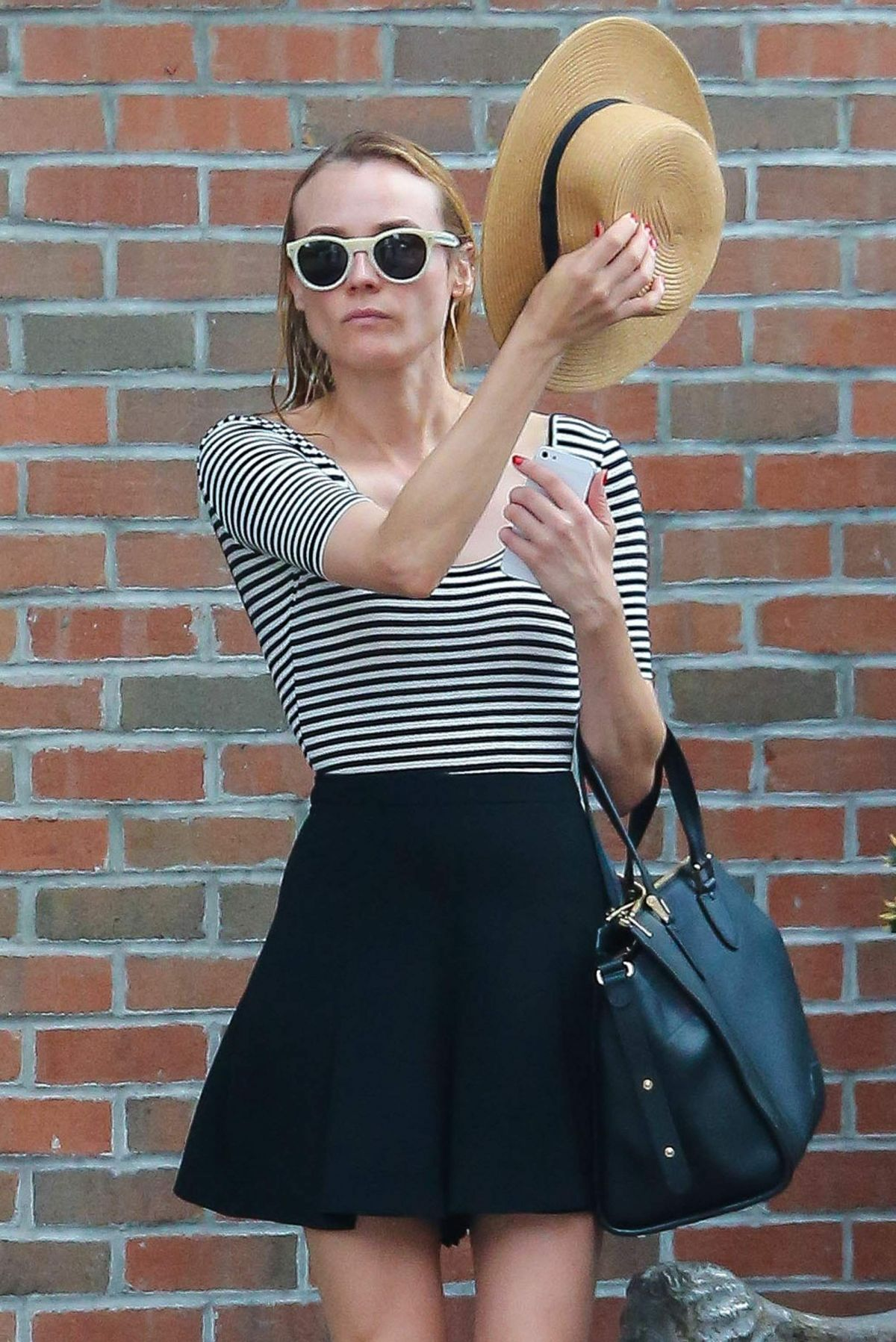 DIANE KRUGER Leaves Her Hotel in New York 05/31/2015