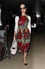 DITA VON TEESE Arrives at LAX Airport in Los Angeles  06/12/2015