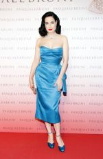 DITA VON TEESE at Pasquale Bruni Secret Gardens Collection Cocktail Party in Milan