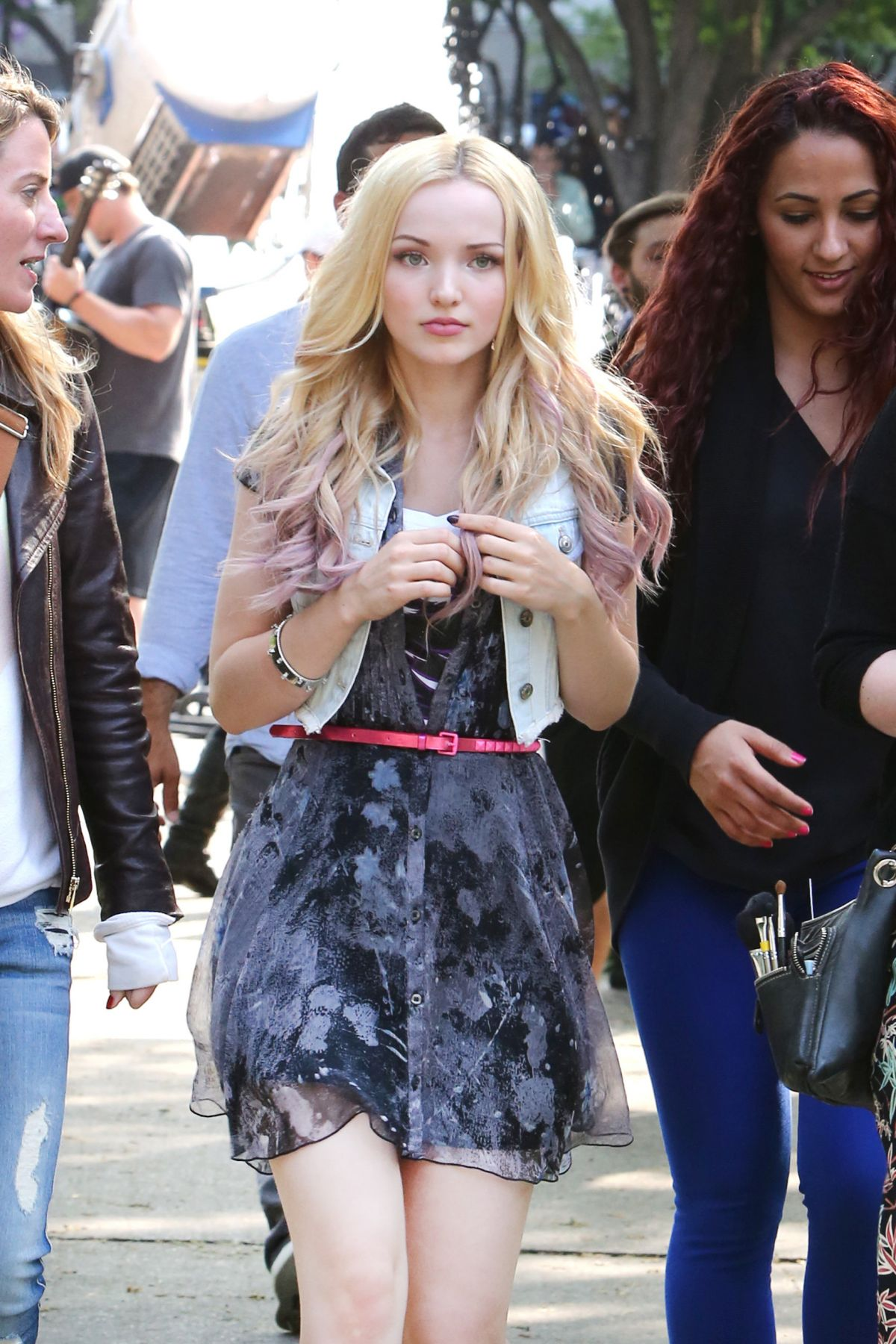 DOVE CAMERON on the Set of Shawn Mendes I Belive Music Video in Toronto 06/04/2015