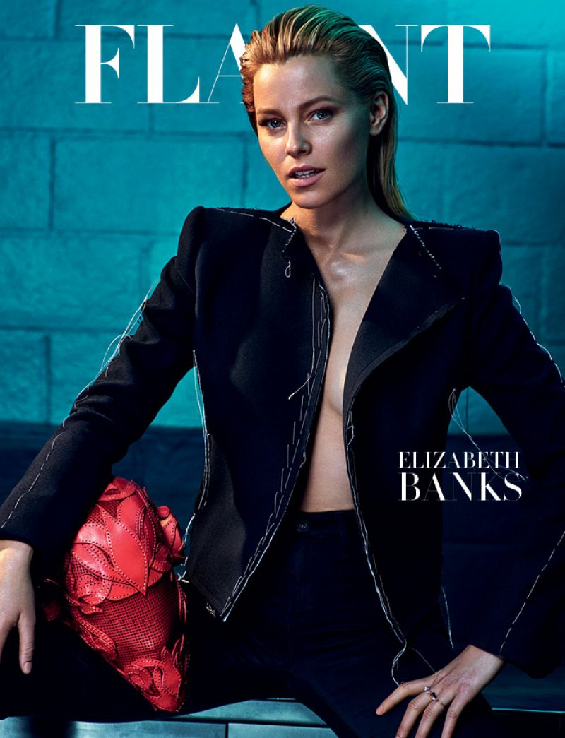 ELIZABETH BANKS on the Cover of Flaunt Magazine, June 2015 Issue