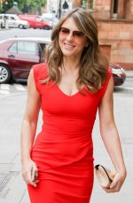 ELIZABETH HURLEY Out and About in London 06/10/2015
