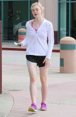 ELLE FANNING Heading to a Gym in Studio City 06/27/2015