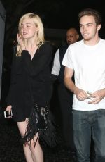 ELLE FANNING Leaves Chateau Marmont in West Hollywood 06/25/2015