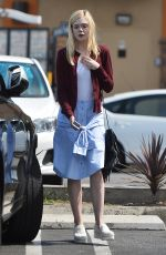 ELLE FANNING Out and About in Los Angeles 06/26/2015