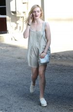 ELLE FANNING Out and About in West Hollywood 06/05/2015