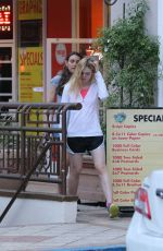 ELLE FANNING Out in Beverly Hills 06/14/2015