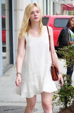 ELLE FANNING Shopping at Giuseppe Zanotti Store in Beverly Hills 06/11/2015