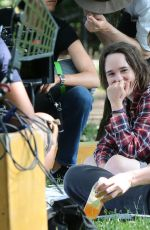 ELLEN PAGE and ALLISON JANNEY on the Set of Tallulah in New York