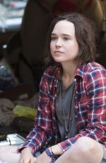 ELLEN PAGE on the Set of Tallulah in New York 06/17/2015
