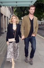 ELSA PATAKY and Chris Hemsworth Out for Dinner in London