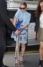 EMILIA CLARKE Arrives at Kiss FM Studio in London 06/18/2015