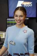EMILIA CLARKE at Kiss FM Studio in London 06/18/2015