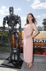 EMILIA CLARKE at Terminator Genesys Press Conference in Paris