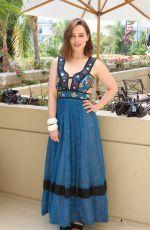 EMILIA CLARKE at Terminator: Genisys Press Conference in Los Angeles