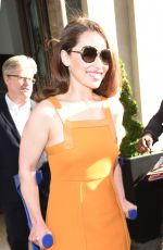 EMILIA CLARKE Leaves Her Hotel in London 06/18/2015
