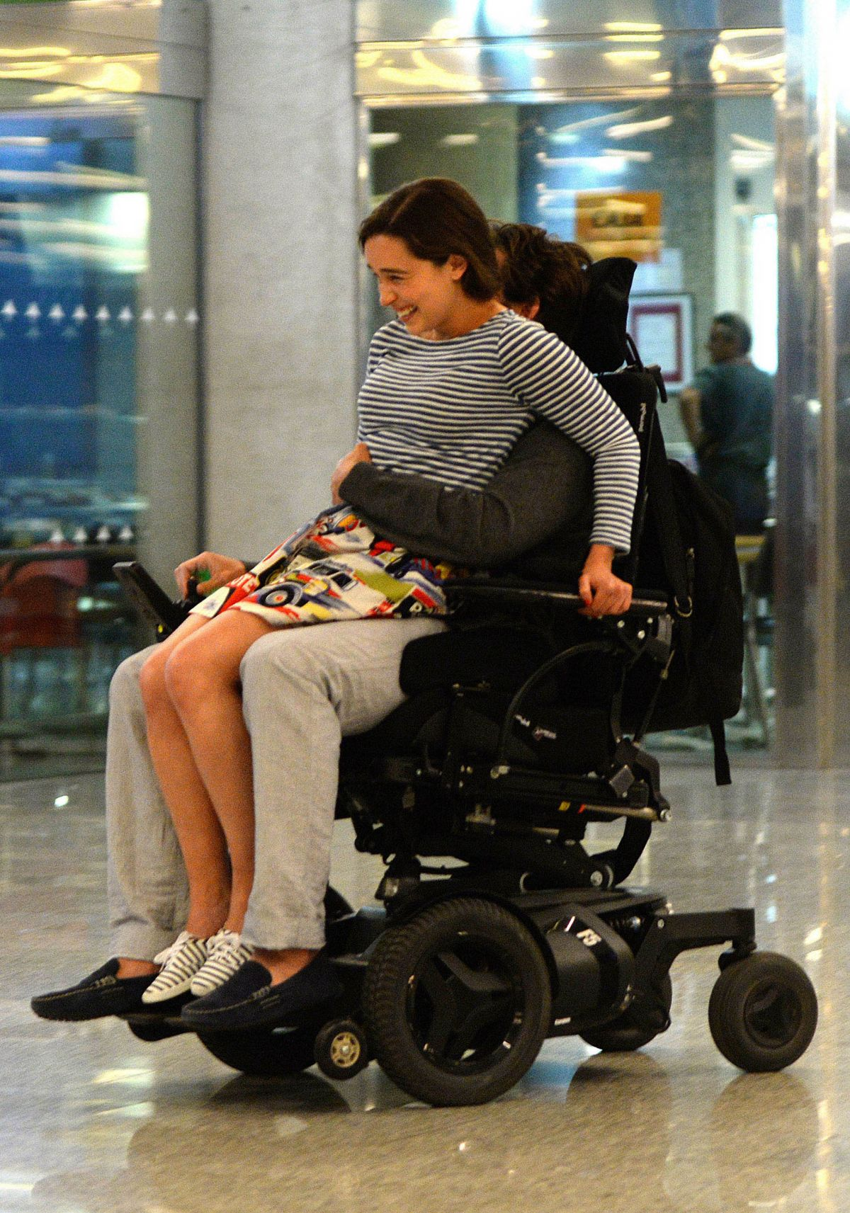 EMILIA CLARKE on the Set of Me Before You in Majorca 06/10/2015