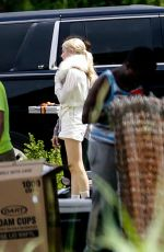 EMMA ROBERTS on the Set of Scream Queens in New Orleans 06/20/2015