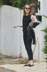 EMMA STONE Out and About in Beverly Hills 06/04/2015