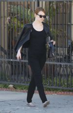 EMMA STONE Out and About in Los Angeles 06/02/2015